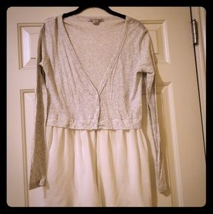 Anthropologie Willoughby gray/white tunic top
